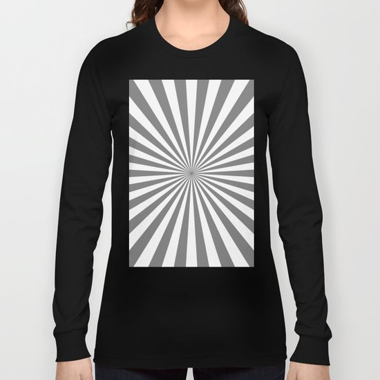 Starburst (Gray/White) Long Sleeve T-shirt