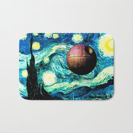 Starry Night Space Collage Bath Mat
