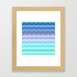 Bright Blue Bars Framed Art Print