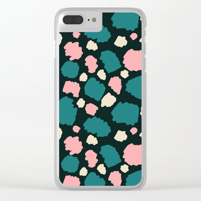 abstract paint swatches Clear iPhone Case