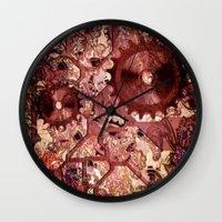 steampunk Wall Clocks featuring Steampunk by MehrFarbeimLeben