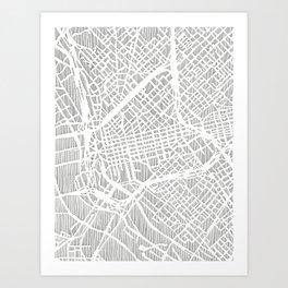 dallas city print Art Print