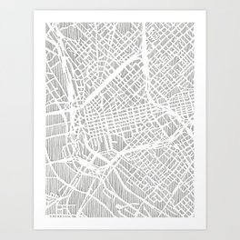 dallas city print Art Print