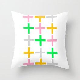 Fifteen Crosses Throw Pillow