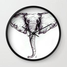 'Mamie' African Elephant Wall Clock