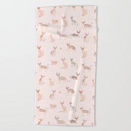 Sphynx Cats Beach Towel