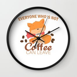 Coffee Can Leave Gift Wall Clock
