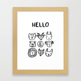 Say Hello Framed Art Print