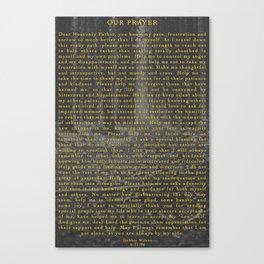 Our Prayer Canvas Print