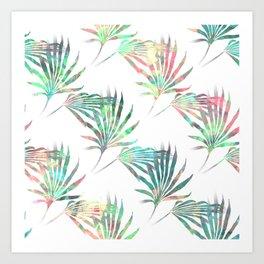 Palmetto Fronds Tropical Multicolor Pattern Art Print