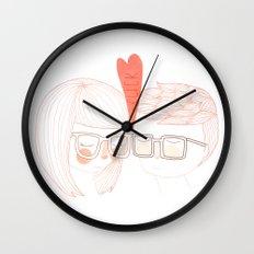 Nerd Kiss Wall Clock