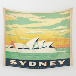 Vintage poster - Sydney Wall Tapestry