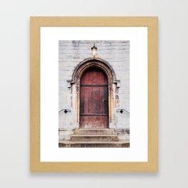 Though Closed Doors Framed Art Print