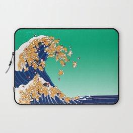 Christmas Shiba Inu The Great Wave Laptop Sleeve