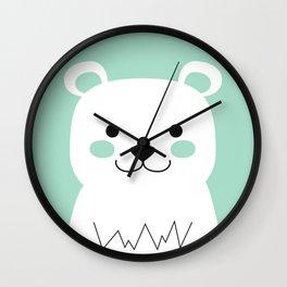 Mint Bear Wall Clock
