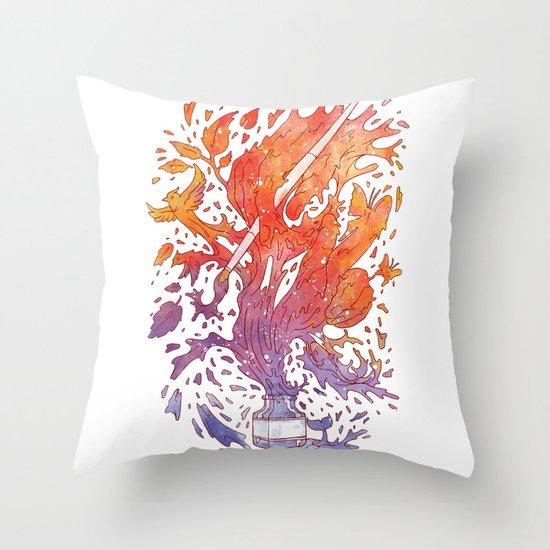 draw itself Throw Pillow