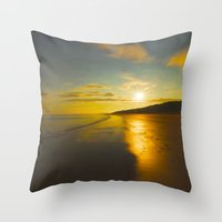 sunrise Throw Pillows featuring Sunrise by Peaky40