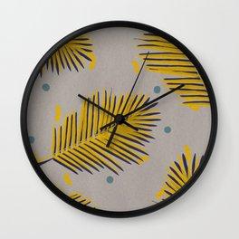Palm leaf 1 Wall Clock