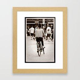 Pedal power Framed Art Print