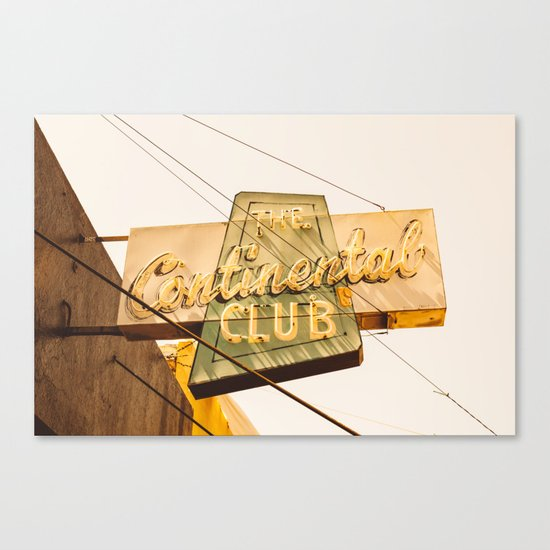 The Continental Club Canvas Print