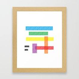 Crayola Pattern Framed Art Print