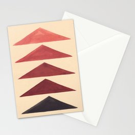 Brown Geometric Triangle Pattern With Black Accent Stationery Cards