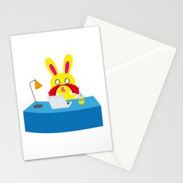 One Tooth Rabbit Nosebleed Anime Watch Dirty Things Stationery Cards