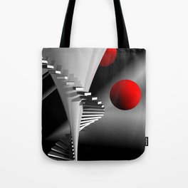 go upstairs -2- Tote Bag