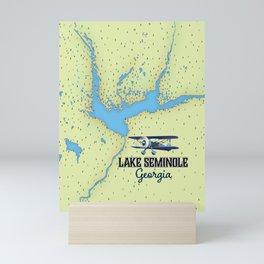 Lake Seminole Georgia map Mini Art Print