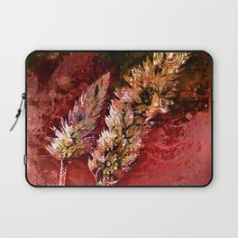 Abstract Red Floral Sprays Laptop Sleeve
