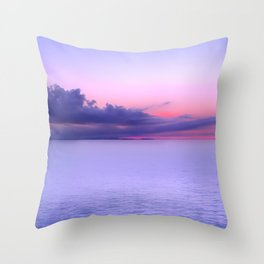 Sunset Indigo Mood Throw Pillow