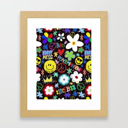 PMO colorful collage Framed Art Print