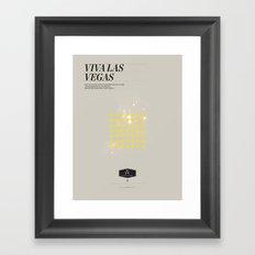 Elvis Vegas Framed Art Print