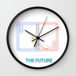 Never Forget Retro Futuristic Wall Clock