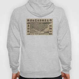 Vintage Pictorial Map of Tacoma WA (1893) Hoody