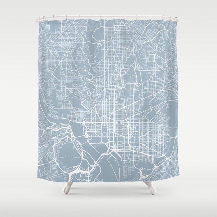 Washington DC Map, USA - Slate Shower Curtain by mainstreetmapscolor ...