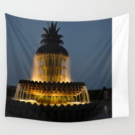 fountain lights Wall Tapestry