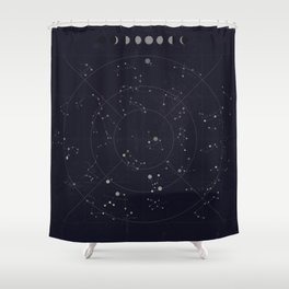 Constellations Shower Curtain