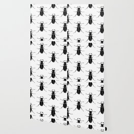 MINIMAL + MONOCHROME BEETLE PATTERN Wallpaper