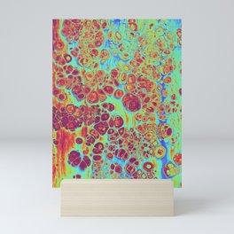 trippy colors wall print  Mini Art Print