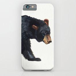 Watercolour Black Bear Drawing iPhone Case