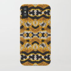 Montana Stripe - Gold iPhone X Slim Case