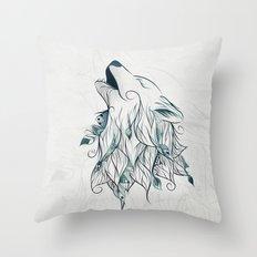 Wolf Throw Pillow