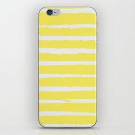 Irregular Stripes Yellow iPhone Skin