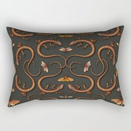 Lizards, Moths & Insects - Reptile Pattern Rectangular Pillow