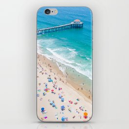 Manhattan Beach Drone Shot iPhone Skin