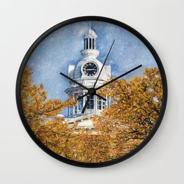Courthouse in Autumn Wall Clock