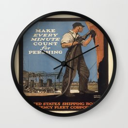 Vintage poster - Make Every Minute Count Wall Clock