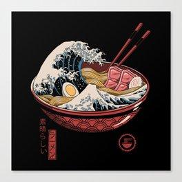 Great Ramen Wave Canvas Print