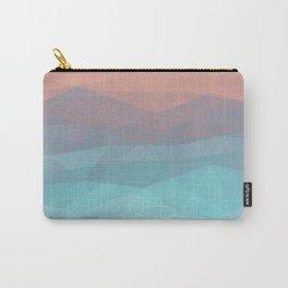 Peach Sky Ocean Beach Carry-All Pouch